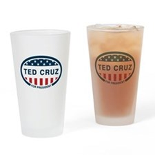 Ted Cruz for president Drinking Glass
