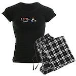 I Love Yoga Women's Dark Pajamas