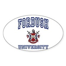 FORBUSH University Oval Decal