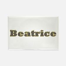 Beatrice Gold Diamond Bling Rectangle Magnet