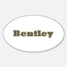 Bentley Gold Diamond Bling Oval Decal