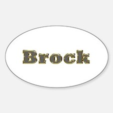 Brock Gold Diamond Bling Oval Decal
