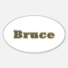 Bruce Gold Diamond Bling Oval Decal