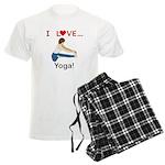 I Love Yoga Men's Light Pajamas