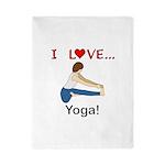 I Love Yoga Twin Duvet