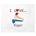I Love Yoga King Duvet