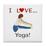 I Love Yoga Tile Coaster