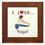 I Love Yoga Framed Tile