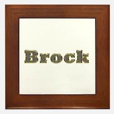 Brock Gold Diamond Bling Framed Tile