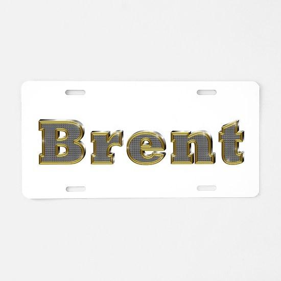 Brent Gold Diamond Bling Aluminum License Plate