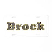 Brock Gold Diamond Bling Aluminum License Plate