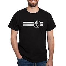 Hockey Player Stripes T-Shirt