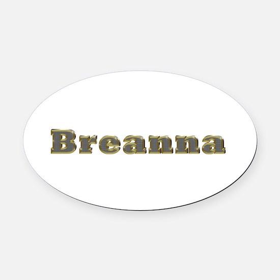 Breanna Gold Diamond Bling Oval Car Magnet