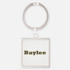 Baylee Gold Diamond Bling Square Keychain