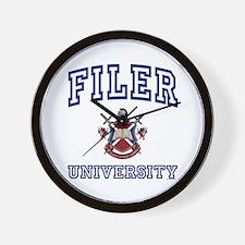 FILER University Wall Clock