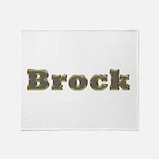 Brock Gold Diamond Bling Throw Blanket