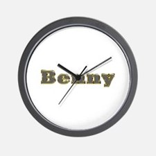 Benny Gold Diamond Bling Wall Clock