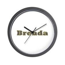 Brenda Gold Diamond Bling Wall Clock