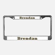 Brendan Gold Diamond Bling License Plate Frame