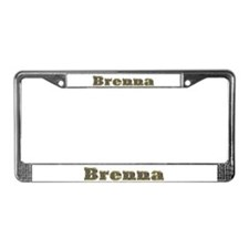 Brenna Gold Diamond Bling License Plate Frame