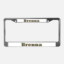 Brenna Gold Diamond Bling License Plate Frame