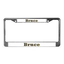Bruce Gold Diamond Bling License Plate Frame