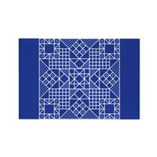 Evening Stars Blue Rectangle Magnet