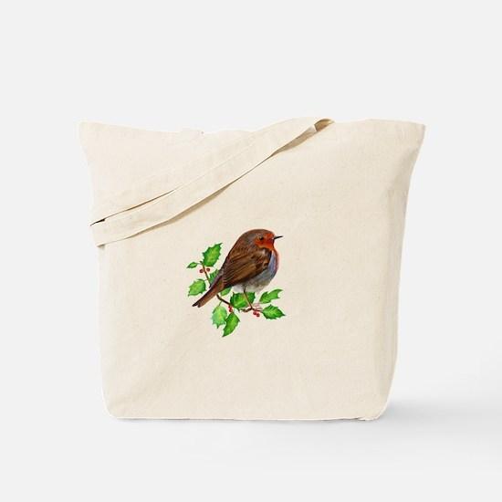 Robin Bird, Robin Redbreast, Painting Tote Bag