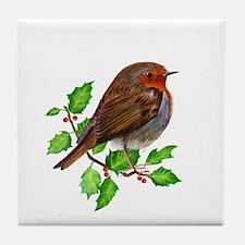 Robin Bird, Robin Redbreast, Painting Tile Coaster