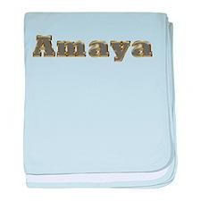 Amaya Gold Diamond Bling baby blanket