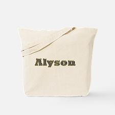 Alyson Gold Diamond Bling Tote Bag