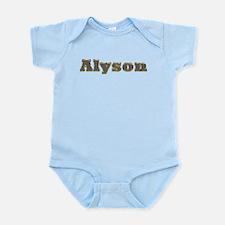 Alyson Gold Diamond Bling Body Suit