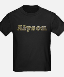 Alyson Gold Diamond Bling T-Shirt