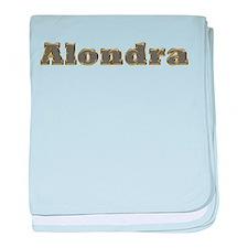 Alondra Gold Diamond Bling baby blanket