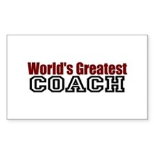 World's Greatest Coach Rectangle Decal