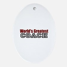 World's Greatest Coach Oval Ornament