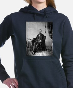 abraham lincoln Women's Hooded Sweatshirt