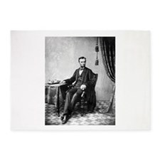 abraham lincoln 5'x7'Area Rug