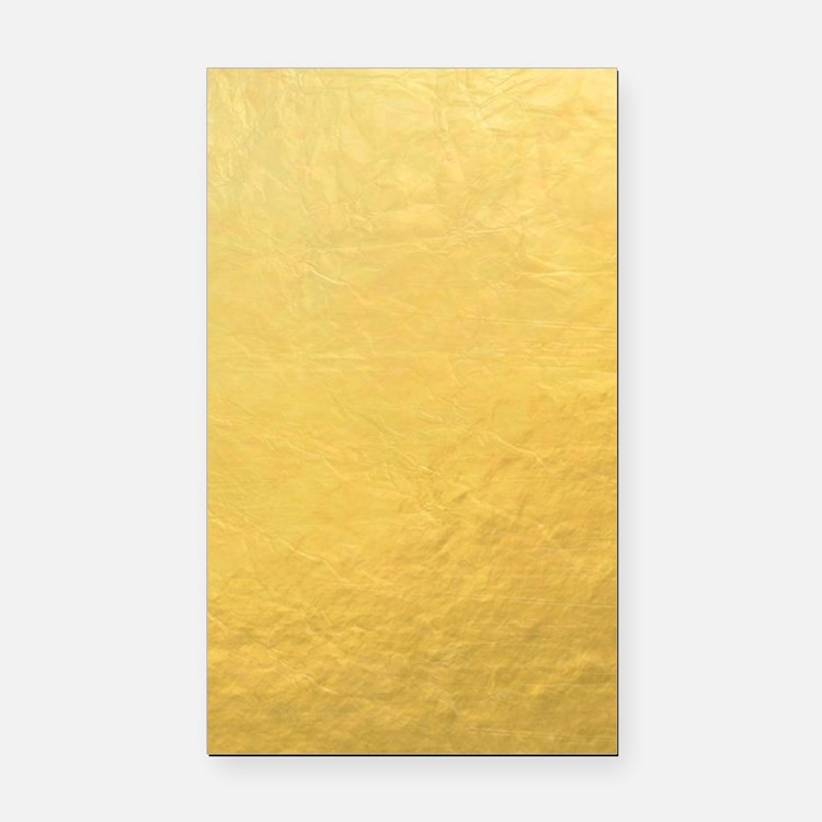 Gold Foil Effect Rectangle Car Magnet