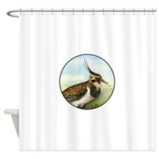 Lapwing Peewit Bird Portrait Shower Curtain