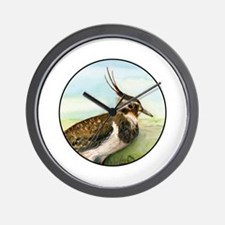 Lapwing Peewit Bird Portrait Wall Clock