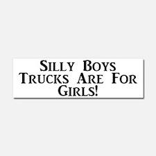 Trucks Are For Girls Car Magnet 10 X 3