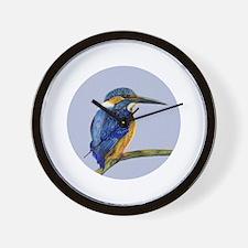 Kingfisher Portrait Watercolor Wall Clock
