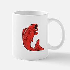 Koi Nishikigoi Carp Fish Jumping Cartoon Mugs