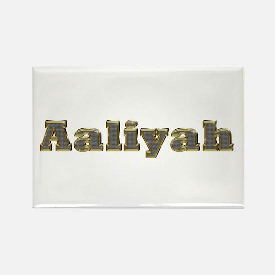 Aaliyah Gold Diamond Bling Rectangle Magnet