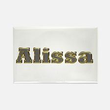 Alissa Gold Diamond Bling Rectangle Magnet