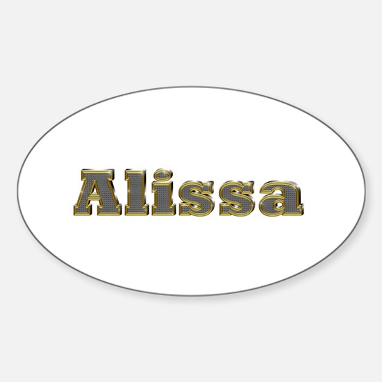 Alissa Gold Diamond Bling Oval Decal