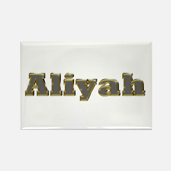 Aliyah Gold Diamond Bling Rectangle Magnet