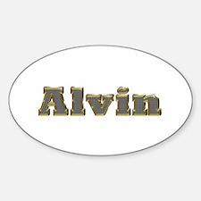 Alvin Gold Diamond Bling Oval Decal