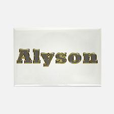Alyson Gold Diamond Bling Rectangle Magnet